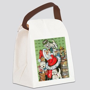 Santa's Little Helpers Canvas Lunch Bag