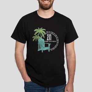Sigma Pi Beach Chair Personalized Dark T-Shirt