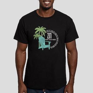 Sigma Pi Beach Chair P Men's Fitted T-Shirt (dark)