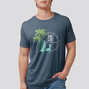 Sigma Pi Beach Chair Person Mens Tri-blend T-Shirt
