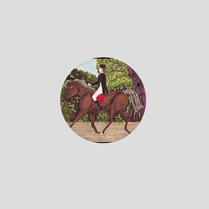 Dressage Horse Riding Shower Curtain Mini Button
