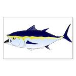 Bluefin Tuna fish Sticker (Rectangle 50 pk)