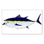 Bluefin Tuna fish Sticker (Rectangle 10 pk)