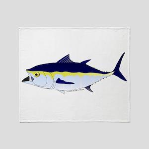 Bluefin Tuna fish Throw Blanket