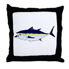 Bluefin Tuna fish Throw Pillow