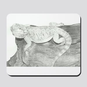 Pencil drawing of a Bearded Dragon Mousepad