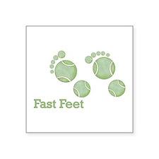 Tennis Footprints - Fast Feet Square Sticker 3