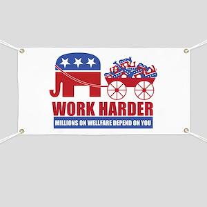 Work Harder Banner