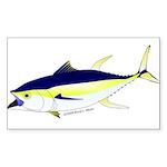 Yellowfin Tuna (Allison Tuna) Sticker (Rectangle 5