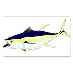 Yellowfin Tuna (Allison Tuna) Sticker (Rectangle 1