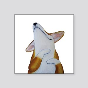 "Corgi Bliss! Square Sticker 3"" x 3"""