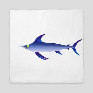 Swordfish (Lilys Deep Sea Creatures) Queen Duvet