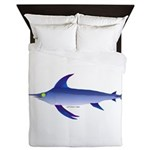 Swordfish (Lilys Deep Sea Creatures) Queen Duvet