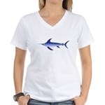 Swordfish (Lilys Deep Sea Creatures) Women's V-Nec