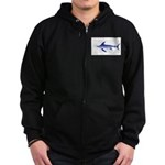 Swordfish (Lilys Deep Sea Creatures) Zip Hoodie (d