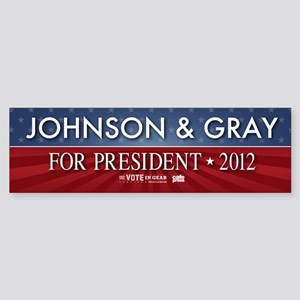 FREE - Gary Johnson 2012 Bumper Sticker