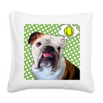 Comical Bulldog Square Canvas Pillow