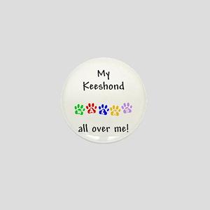 Keeshond Walks Mini Button
