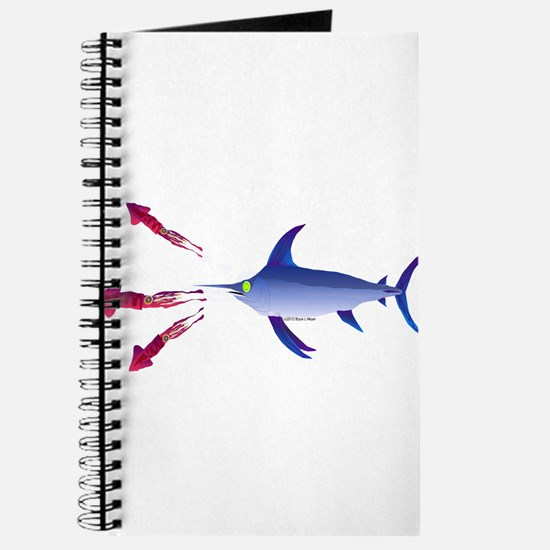 Swordfish chasing three humboldt Squid Journal