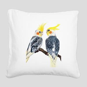 Cockatiel Square Canvas Pillow