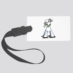 Bedlington Terrier Play Large Luggage Tag