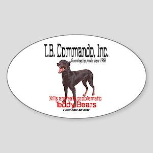 Commando Oval Sticker