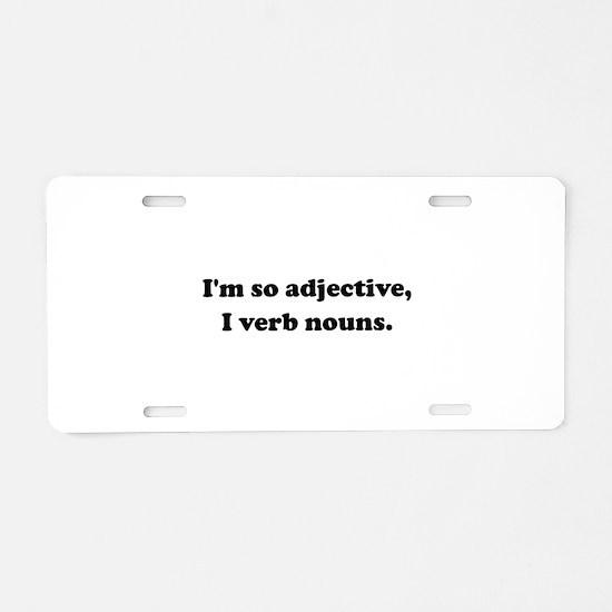 Adjective Verb Nouns Aluminum License Plate