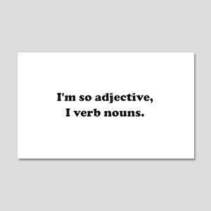 Adjective Verb Nouns 20x12 Wall Decal