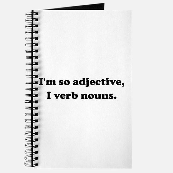 Adjective Verb Nouns Journal