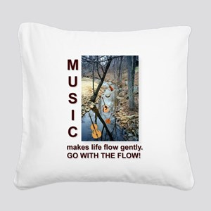 Fiddle Violin Instruments Square Canvas Pillow