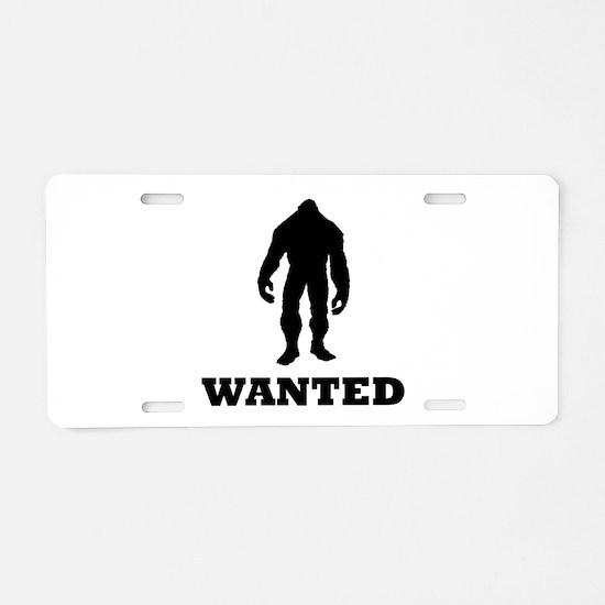 Bigfoot Wanted Aluminum License Plate