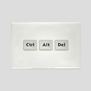 Ctrl Alt Del Key Rectangle Magnet (10 pack)