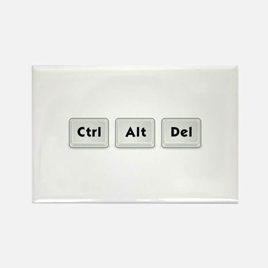 Ctrl Alt Del Key Rectangle Magnet (10 pack)