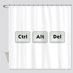 Ctrl Alt Del Key Shower Curtain