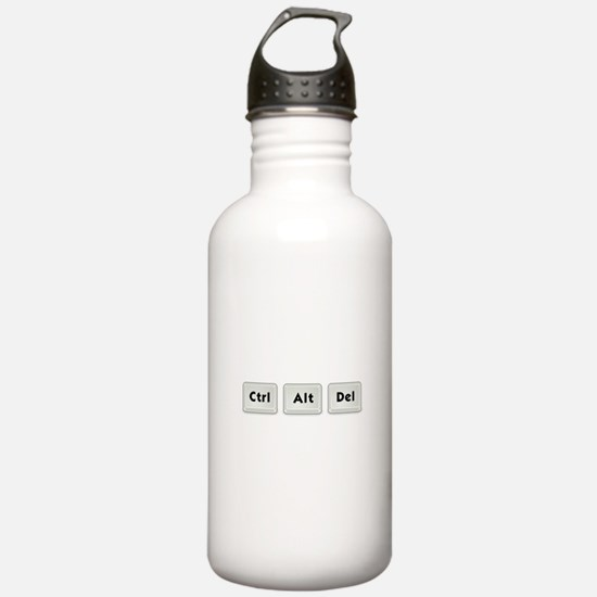 Ctrl Alt Del Key Water Bottle
