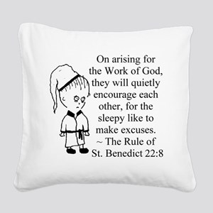 Sleepy Character Square Canvas Pillow