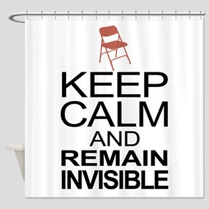 Obama Empty Chair - Remain Invisible Shower Curtai