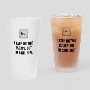 Hitting Escape Key Drinking Glass