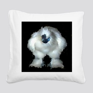 Silkie Rooster Chicken Square Canvas Pillow
