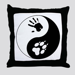 Wolf Therian Ying Yang Throw Pillow