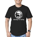Marx: Sharing is Caring Men's Fitted T-Shirt (dark