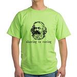 Marx: Sharing is Caring Green T-Shirt