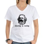Marx: Sharing is Caring Women's V-Neck T-Shirt