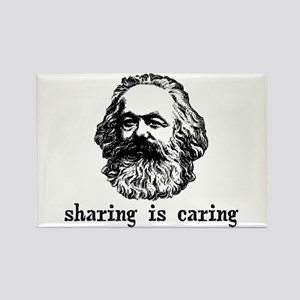 Marx: Sharing is Caring Rectangle Magnet
