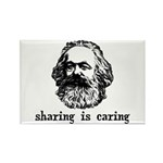 Marx: Sharing is Caring Rectangle Magnet (10 pack)