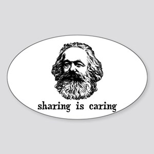 Marx: Sharing is Caring Sticker (Oval)