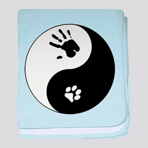 Cat Therian Ying Yang baby blanket
