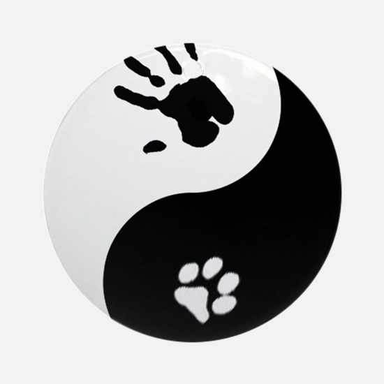 Cat Therian Ying Yang Ornament (Round)