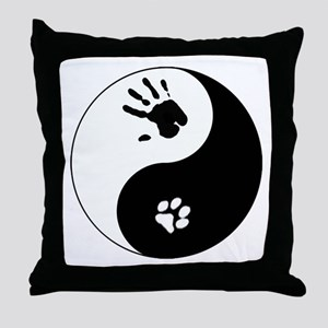 Cat Therian Ying Yang Throw Pillow