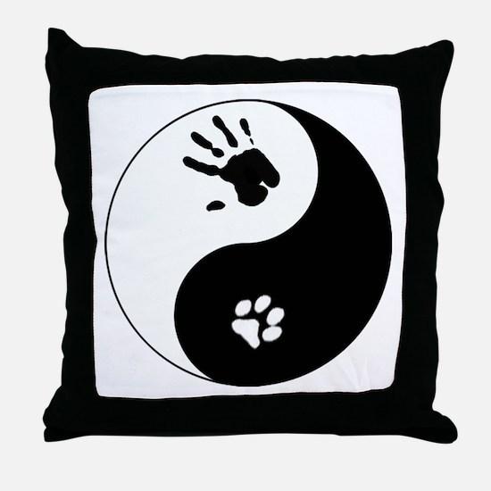 Cat Therian Ying Yang Throw Pillow